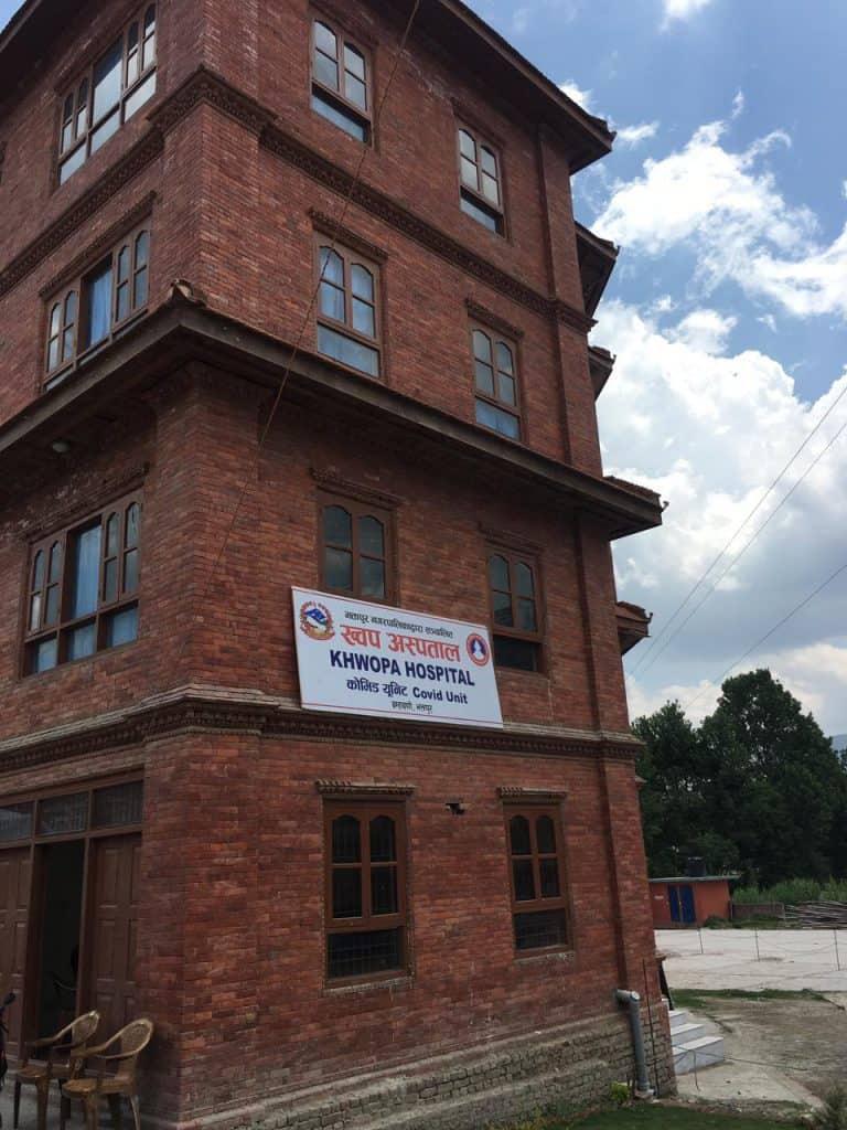 Das Gebäude, in dem die Covid Unit eingerichtet wurde